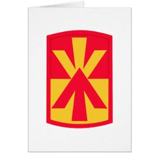 11mo Insignias de la brigada de la artillería de l Tarjeta De Felicitación