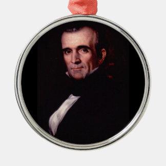 11mo los E.E.U.U. presidente de James K. Polk Adorno Redondo Plateado
