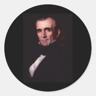 11mo los E.E.U.U. presidente de James K. Polk Pegatina Redonda