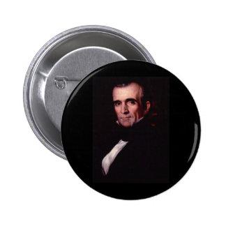 11mo los E.E.U.U. presidente de James K. Polk Pin Redondo 5 Cm