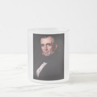 11mo los E.E.U.U. presidente de James K. Polk Taza De Café Esmerilada