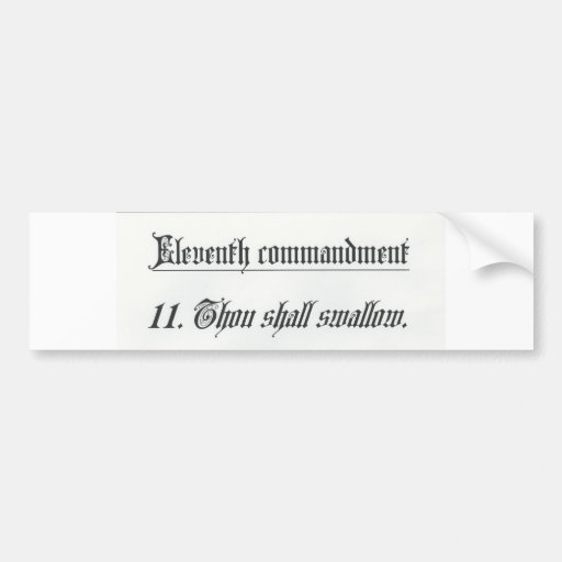 11mo mandamiento etiqueta de parachoque