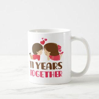 11mo Regalo del aniversario para ella Taza De Café