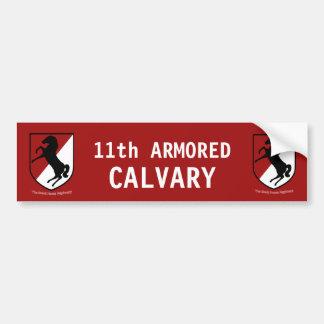 11mo regimiento de caballería acorazada del pegatina para auto