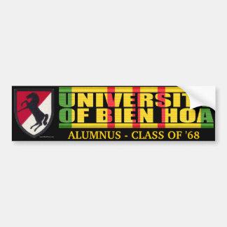 11mos ACR - U del pegatina del alumno de Bien Hoa Pegatina De Parachoque