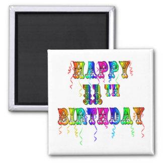 11mos imanes felices del globo del cumpleaños imanes