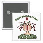 11mos regalos de cumpleaños Raggedy de Annie Pin Cuadrada 5 Cm
