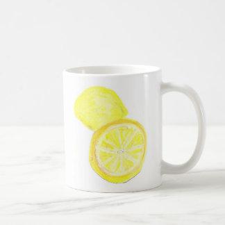 11oz Classic White Mug - Lemons Pastel Art