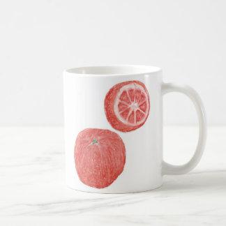 11oz Classic White Mug - Oranges Pastel Art