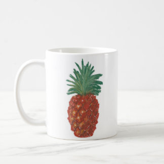 11oz Classic White Mug - Pineapple Pastel Art