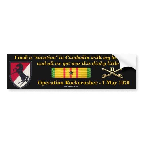 11th ACR Cambodian Vacation Bumper Sticker bumpersticker
