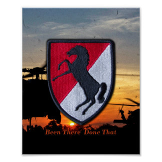 11th acr Cavalry Air Cav Vetereans Vets Patch Poster