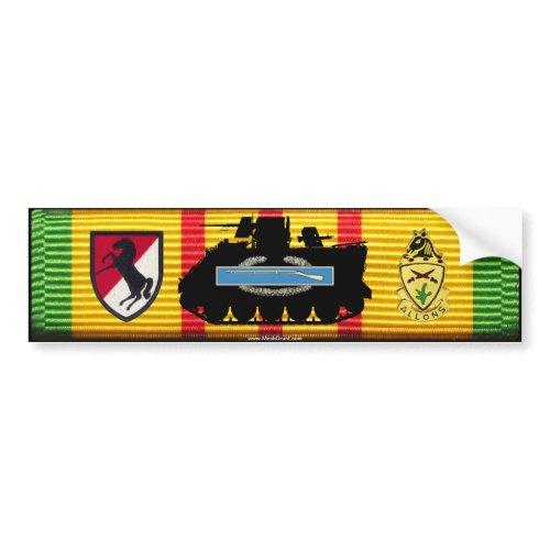 11th ACR M113 CIB VSM Ribbon Bumper Sticker zazzle_bumpersticker
