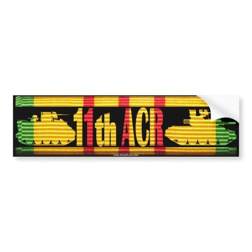 11th ACR VSM Ribbon Cut-Out Bumper Sticker bumpersticker