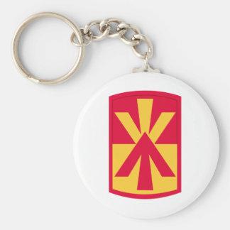 11th air defense artillery brigade basic round button keychain