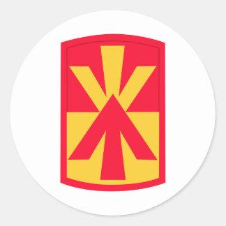 11th Air Defense Artillery Brigade Insignia Classic Round Sticker