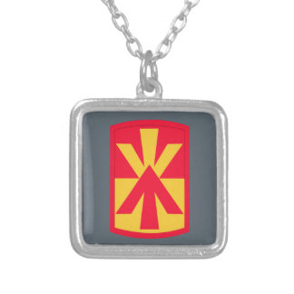 11th Air Defense Artillery Brigade Square Pendant Necklace