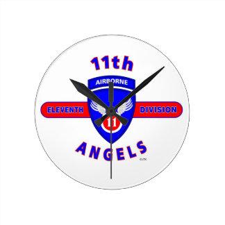 "11TH AIRBORNE DIVISION ""ANGELS"" ROUND WALLCLOCK"