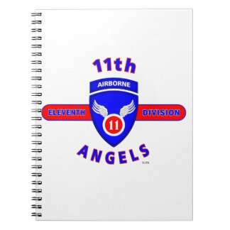 "11TH AIRBORNE DIVISION ""ANGELS"" SPIRAL NOTEBOOK"