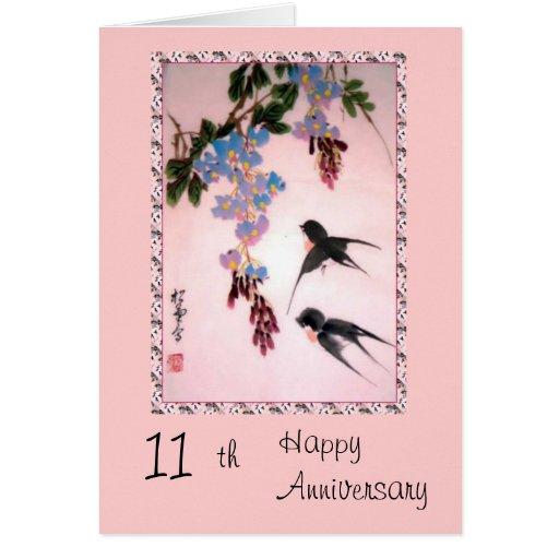 Th anniversary card zazzle