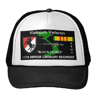 11th Armor Cavalry Regiment Vietnam Ball Caps Trucker Hat