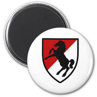 11th Armored Cavalry Regiment 2 Inch Round Magnet