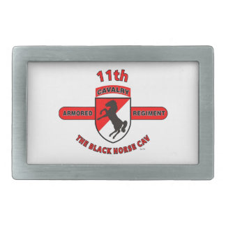 "11TH ARMORED CAVALRY REGIMENT ""BLACK HORSE CAV"" BELT BUCKLES"