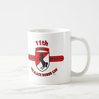 "11TH ARMORED CAVALRY REGIMENT ""BLACK HORSE CAV"" COFFEE MUG"