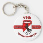 "11TH ARMORED CAVALRY REGIMENT ""BLACK HORSE CAV"" KEY CHAIN"