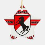 "11TH ARMORED CAVALRY REGIMENT ""BLACK HORSE CAV"" CHRISTMAS TREE ORNAMENT"