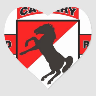 "11TH ARMORED CAVALRY REGIMENT ""BLACK HORSE CAV"" STICKERS"