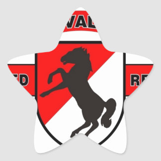 "11TH ARMORED CAVALRY REGIMENT ""BLACK HORSE CAV"" STAR STICKERS"
