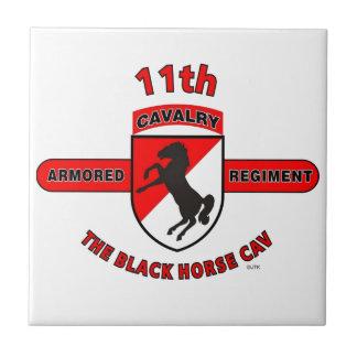 "11TH ARMORED CAVALRY REGIMENT ""BLACK HORSE CAV"" TILE"
