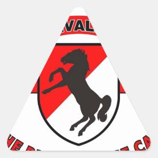 """11TH ARMORED CAVALRY REGIMENT """"BLACK HORSE CAV"""" TRIANGLE STICKER"""