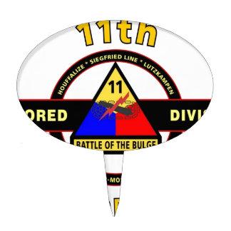 "11TH ARMORED DIVISION ""THUNDERBOLT"" CAKE TOPPER"