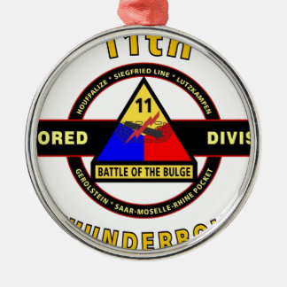 "11TH ARMORED DIVISION ""THUNDERBOLT"" METAL ORNAMENT"