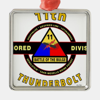 """11TH ARMORED DIVISION """"THUNDERBOLT"""" METAL ORNAMENT"""