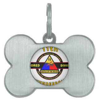 """11TH ARMORED DIVISION """"THUNDERBOLT"""" PET NAME TAG"""