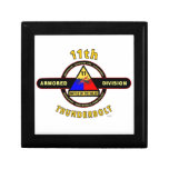 """11TH ARMORED DIVISION """"THUNDERBOLT"""" TRINKET BOXES"""