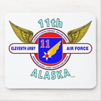 "11TH ARMY AIR FORCE ""ARMY AIR CORPS""  WW II MOUSE PAD"