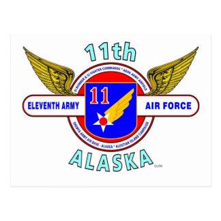 "11TH ARMY AIR FORCE ""ARMY AIR CORPS""  WW II POSTCARD"