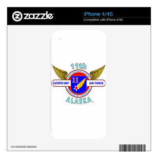 """11TH ARMY AIR FORCE """"ARMY AIR CORPS""""  WW II DECAL FOR iPhone 4S"""