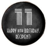 "[ Thumbnail: 11th Birthday - Art Deco Inspired Look ""11"", Name ]"