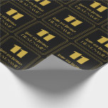 """[ Thumbnail: 11th Birthday – Art Deco Inspired Look """"11"""" & Name Wrapping Paper ]"""