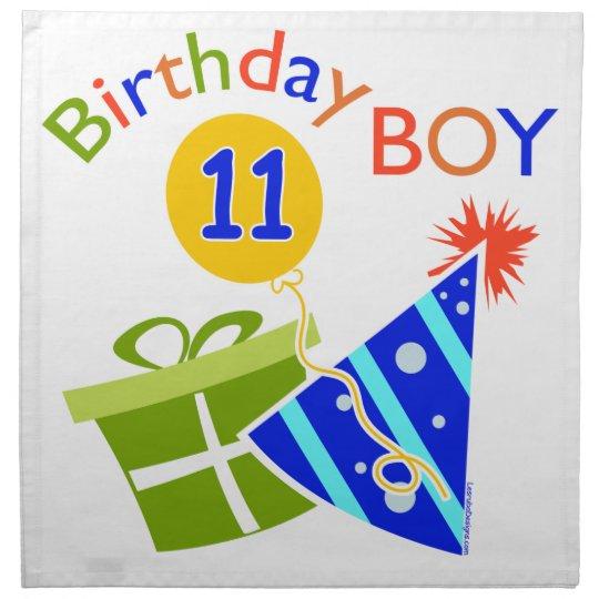 11th Birthday - Birthday Boy Napkin