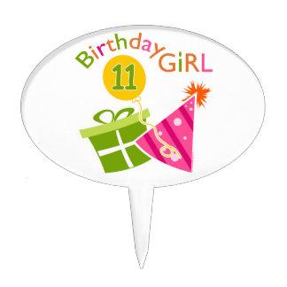 11th Birthday - Birthday Girl Cake Topper