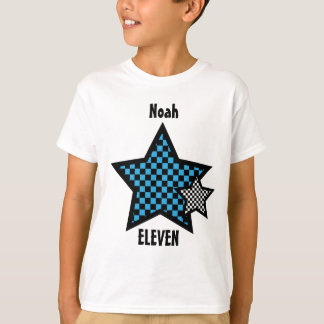 11th Birthday Boy CHECKED Star Custom Name V24 T-Shirt