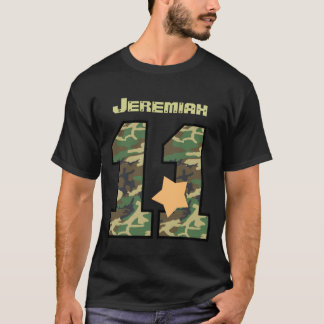 11th Birthday Camo Eleven Years Custom Name V012B1 T-Shirt