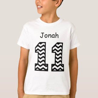 11th Birthday CHEVRON Custom Name V01G8 T-Shirt