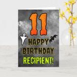 [ Thumbnail: 11th Birthday: Eerie Halloween Theme + Custom Name Card ]